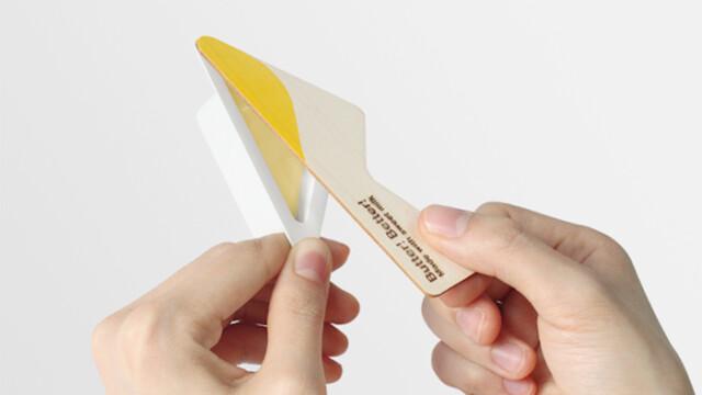 Intrygujące masło z nożem