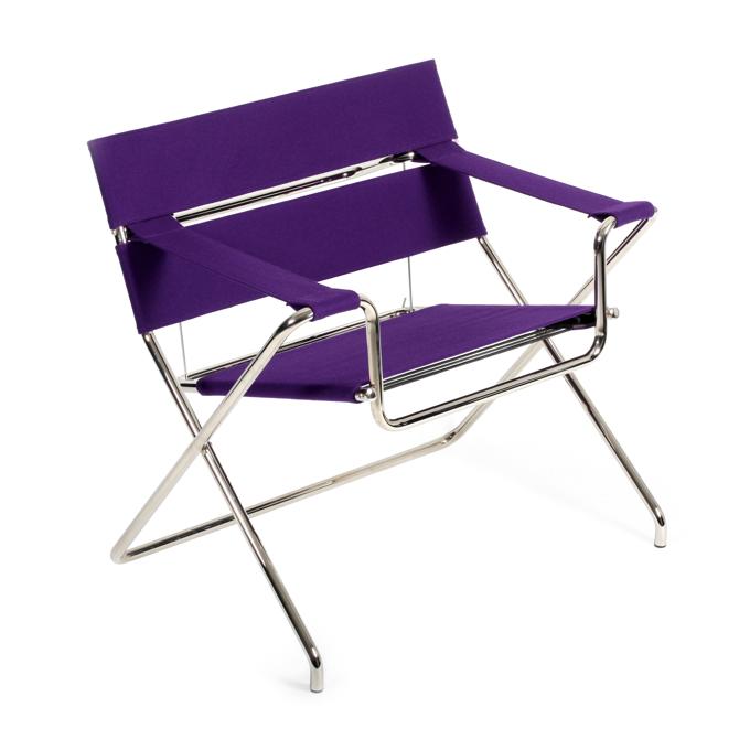 Stelaż fotela tworzy składany stalowy i chromowany profil. fot. ARC