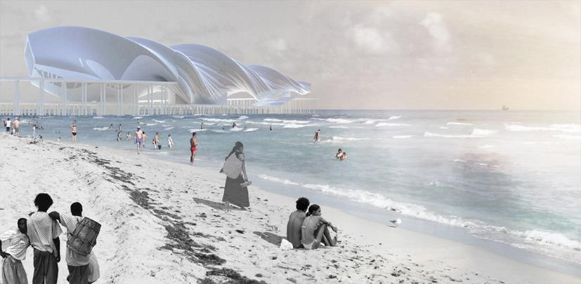 Projekt Museum of Latin American Immigrants w Miami, za który architekt otrzymał wyróżnienie. fot. ARC
