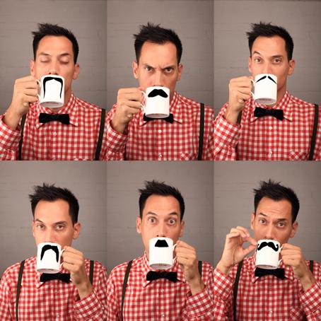 Dzięki pomysłowi Ibrueggera można choćby na chwilę poczuć się facetem z wąsami. fot. ARC