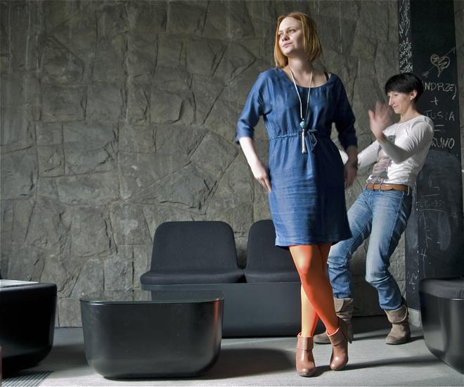 Uczestniczki poligonu zwracają uwagę na fantazyjność Termo. fot.Katarzyna Nowak