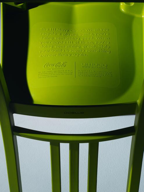 Plastik rPET służący do produkcji krzeseł pochodzi z największego na świecie zakładu recyklingu butelek w Spartanburgu w Karolinie Południowej, w Stanach Zjednoczonych. fot. Materiały prasowe