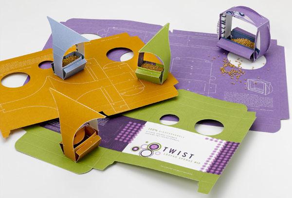 Karmniki Twist, wykonane m.in. z papieru dla Notcot. fot. ARC
