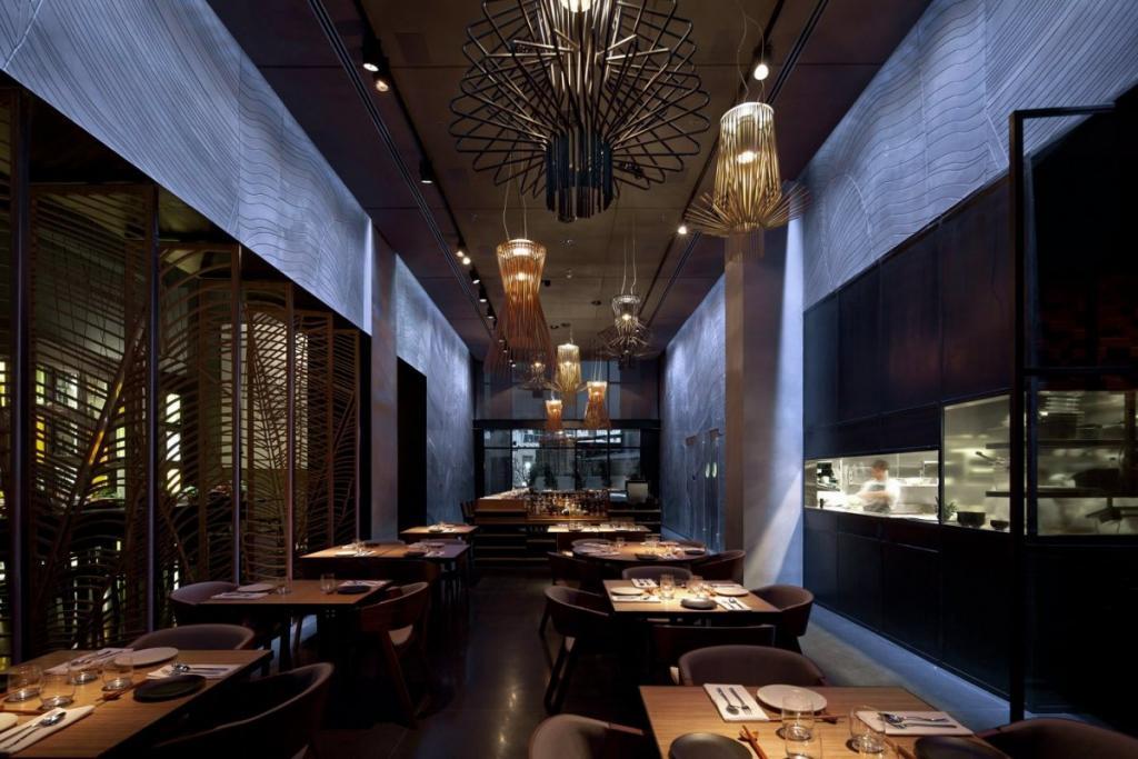 Samo wnętrze restauracji wywołuje