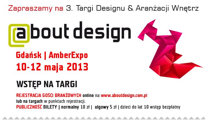 Trzecia edycja Targów Designu i Aranżacji Wnętrz About Design  odbędzie się w Centrum Wystawienniczo-Kongresowym AmberExpo.