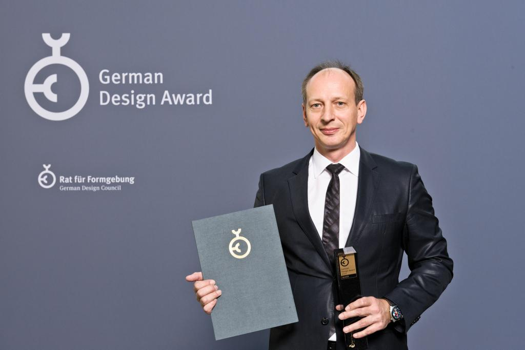 Jacek Frohlich z German Design Award 2012. fot. Lutz Sternstein
