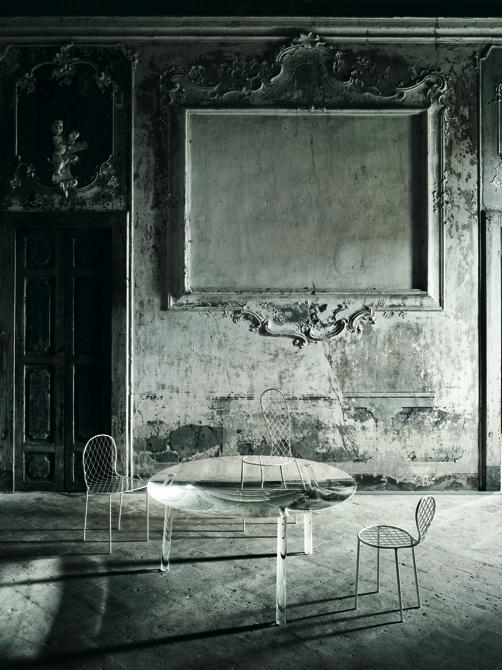 Na kolekcję powstałą dla Living Divani składają się trzy obiekty: Drop Table, Garden Plate oraz Family Chair. fot. Materiały prasowe