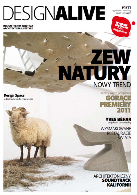 Temat przewodni magazynu to natura, bo to jeden z kierunków, w którym zmierza projektowanie. fot. Łukasz Potocki