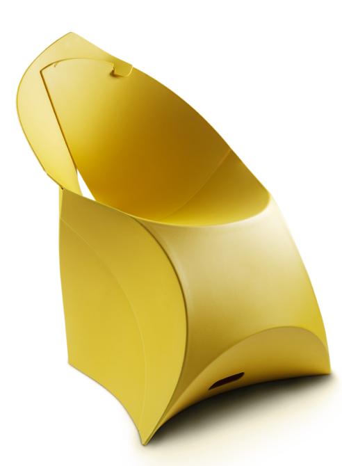 Krzesła Flux powstają ze specjalnego tworzywa sztucznego. fot. Materiały prasowe