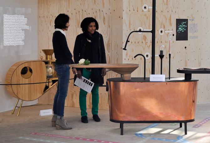 Microbial Home zaprezentowano publicznie podczas Dutch Design Week. fot. Ewa Trzcionka