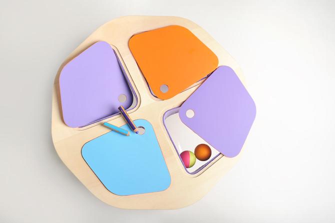 Stół do zabawy powstał z myślą o dzieciach od 2 do 5 lat. fot. Materiały prasowe