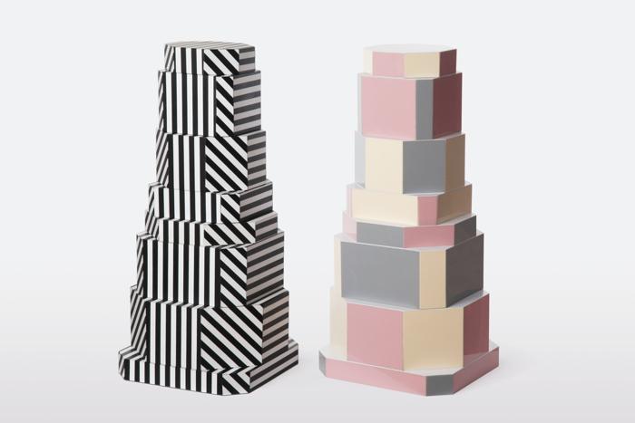 Ziggurat Containers są wykonane z drewna i akrylu. fot. Materiały prasowe