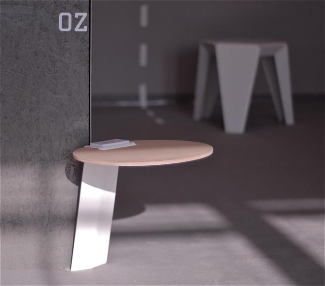 Stolik jest na razie prototypem - aktualnie zobaczyć go można na wystawie