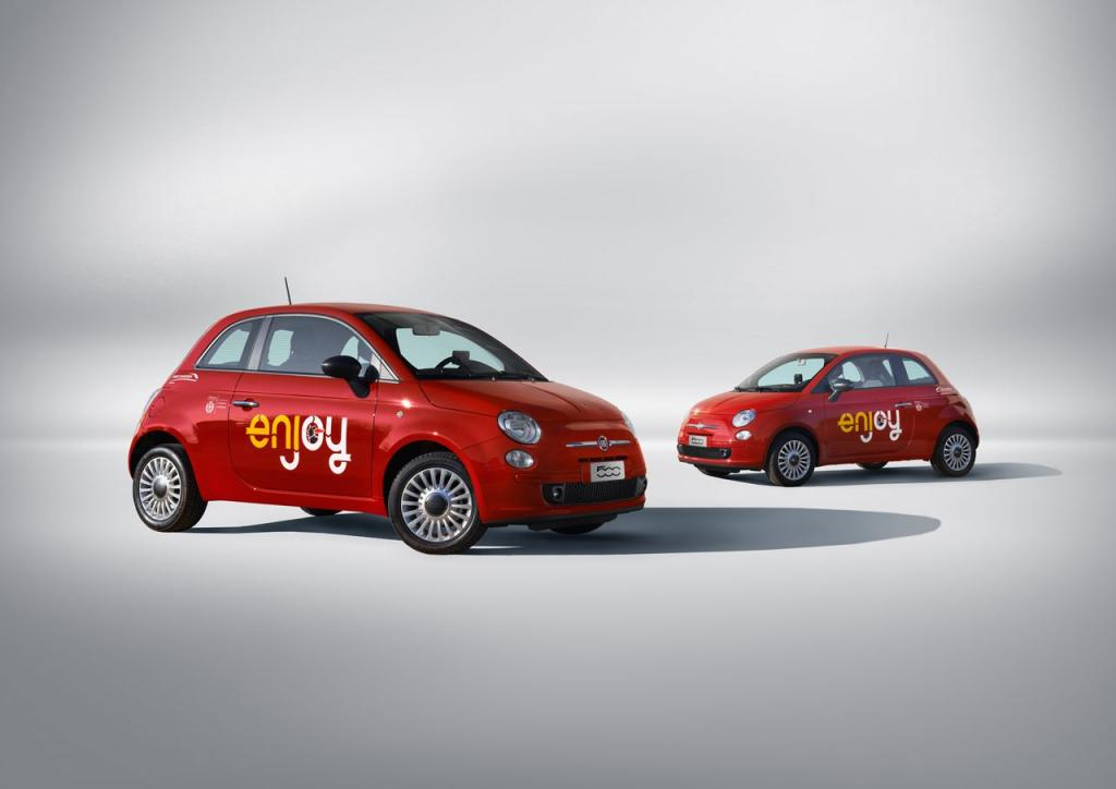 Na ulicach Mediolanu pojawi się wkrótce 650 takich Fiatów 500. fot. Materiały prasowe
