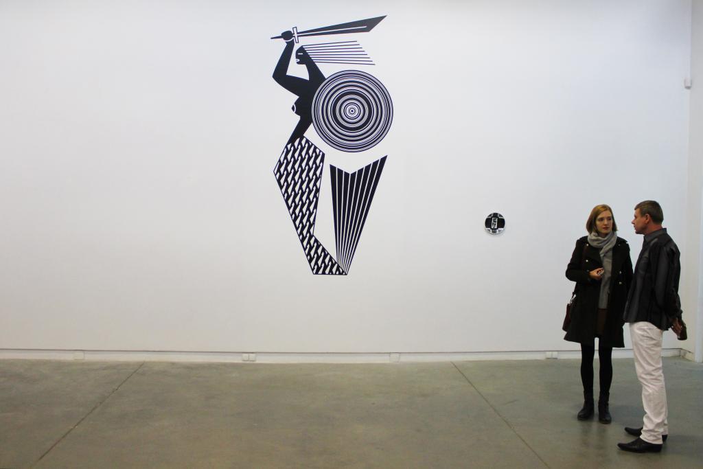 Syrenka na podstawie dekoracji ceramicznej z lat 60. projektu J. Ciasia, mural. fot. Radek Skrzypczyk