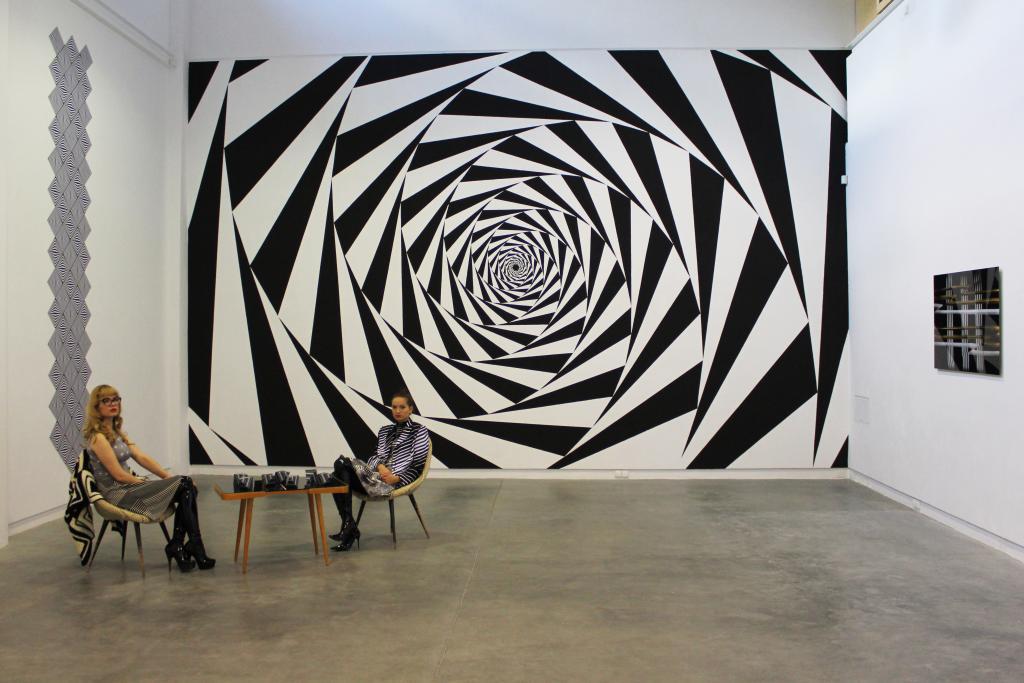 Vortex - hipnotyzyjący mural łączący matematykę z estetyką. fot. Eliza Ziemińska