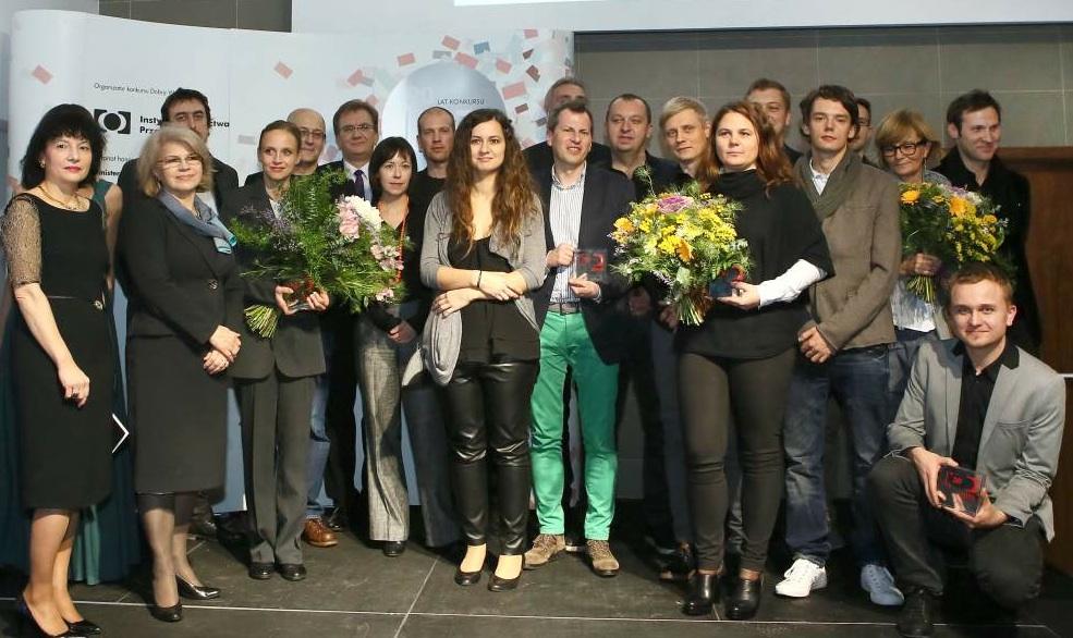 Laureaci konkursu Dobra Rzecz 2013 podczas gali w Instytucie Wzornictwa Przemysłowego. fot. Materiały prasowe
