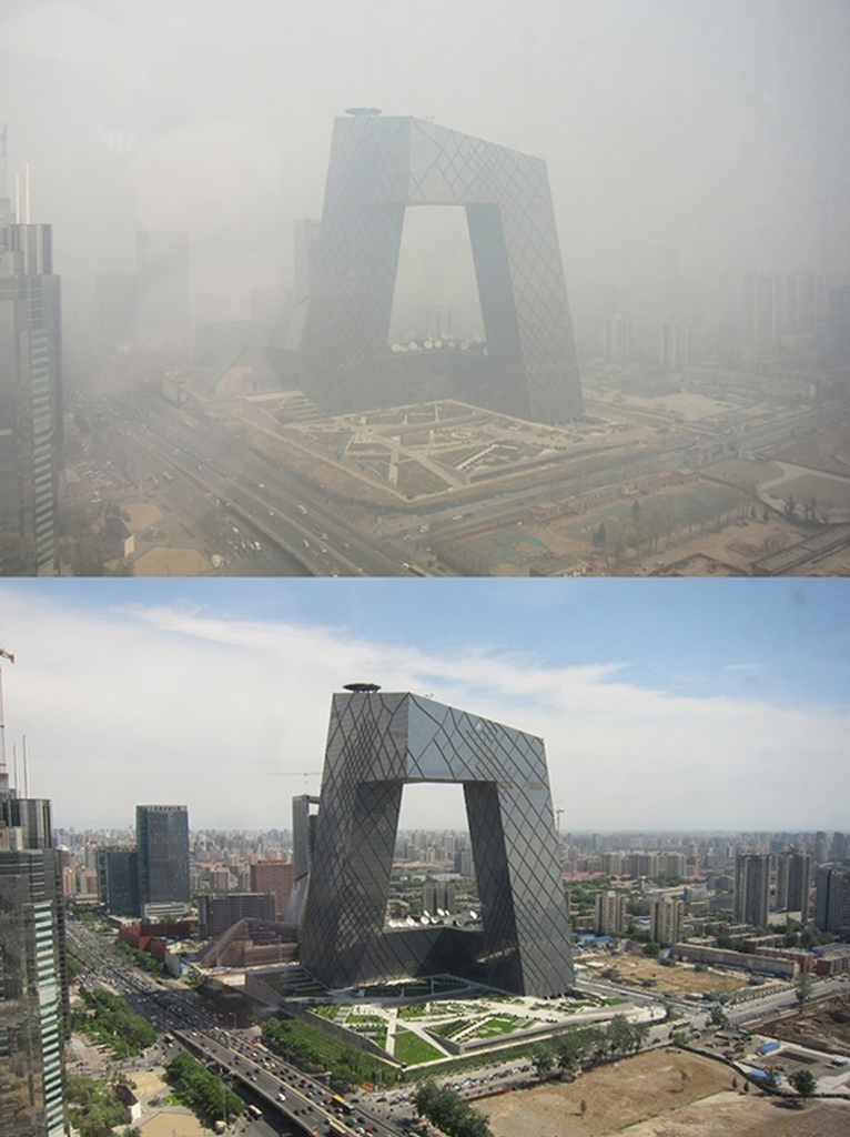 Smog Beijing CCTV Tower