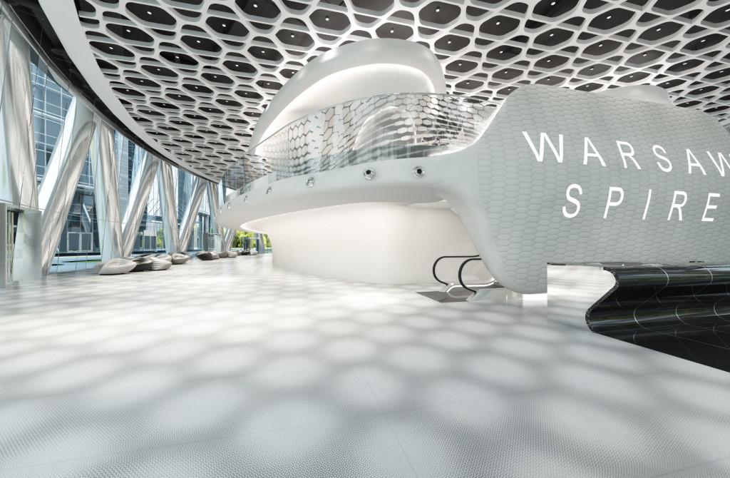 Laminam Star Maker w Warsaw Spire_wizualizacja 1