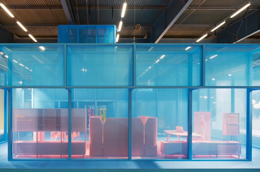Stoisko marki Kinnarps na na Stockholm Furniture & Light Fair.