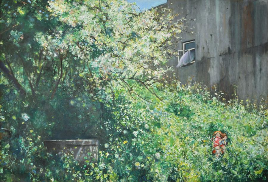 Łukasz Korolkiewicz (ur. 1948). Pod wzgórzem, 1991.