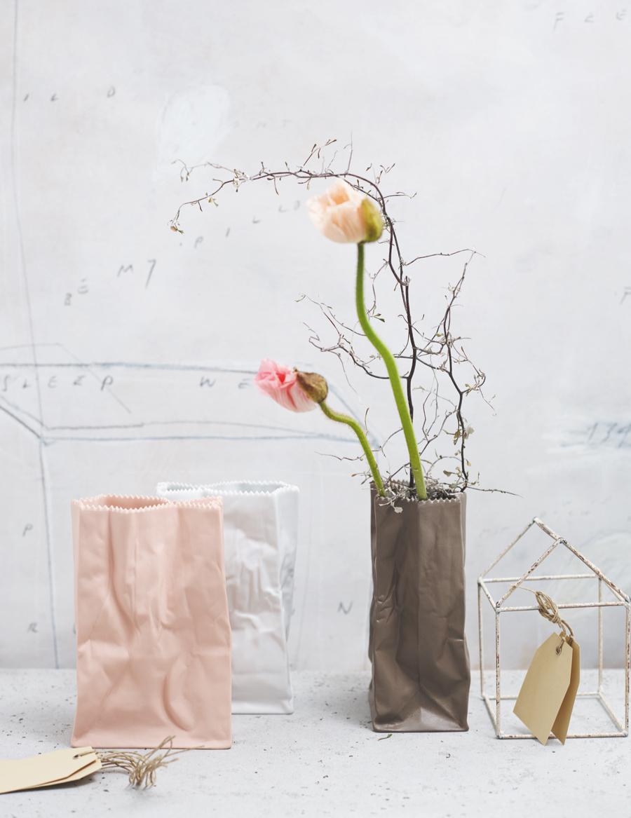 Kolekcja wazonów Paper Bag, proj.  Tapio Wirkkala.