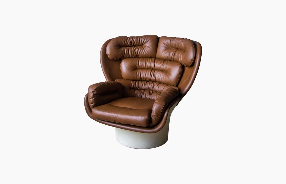 Zdjecie 5 Fotel Elda, proj. J. Colombo, lata 60
