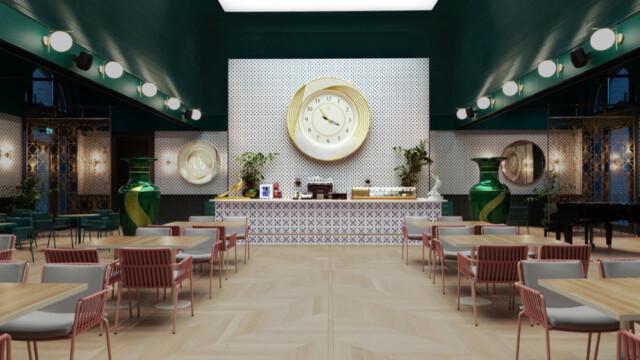 Restauracja z gigantyczną porcelaną w Domu Tysiąclecia Węgier