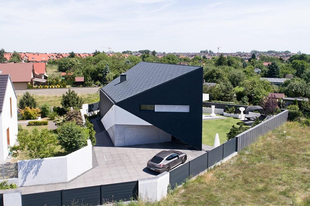 Dom na planie trapezu. Re: Triangle House projektu Reform Architekt