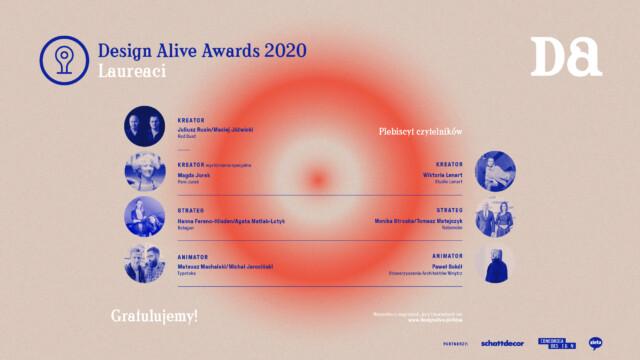 Ogłaszamy zwycięzców Design Alive Awards 2020