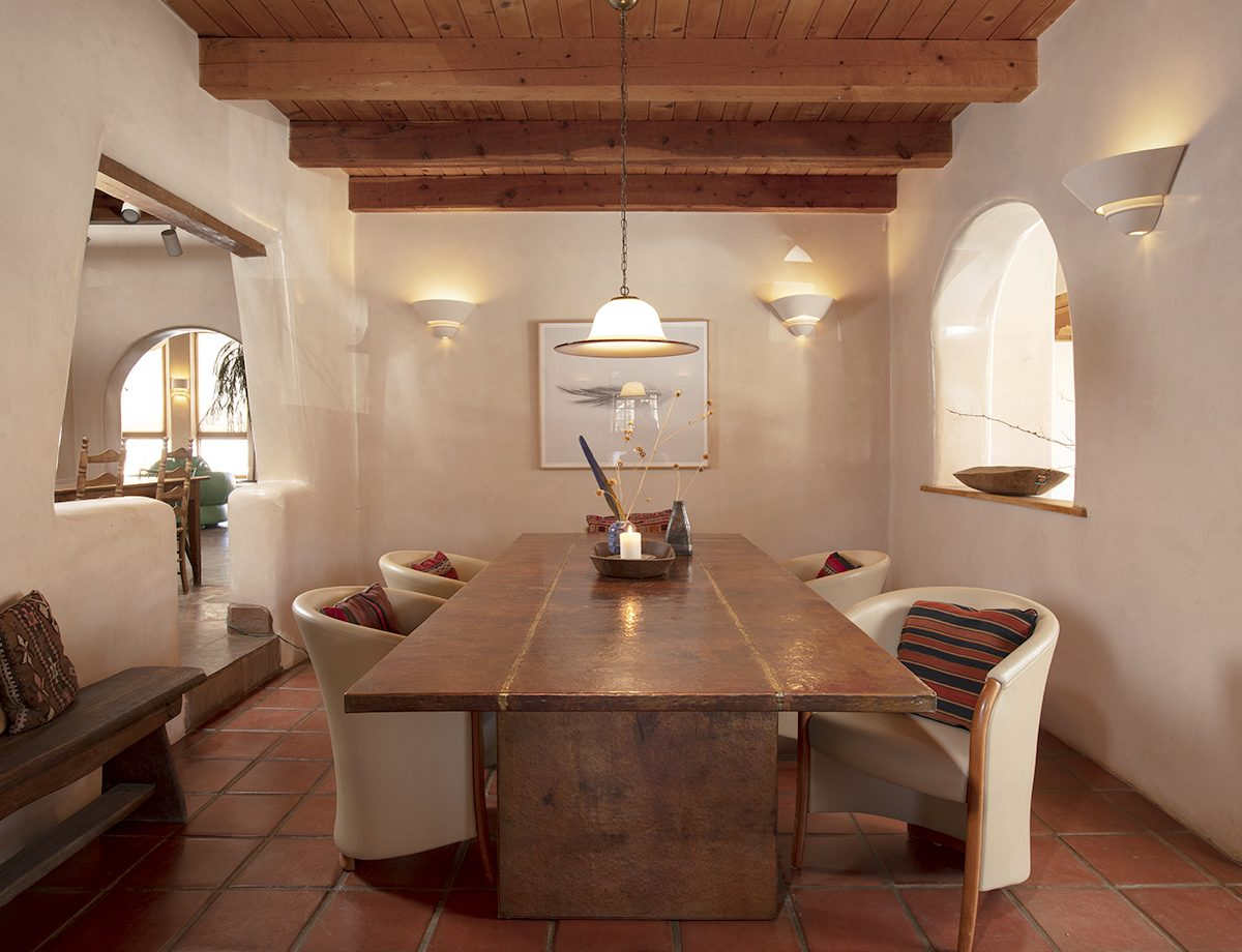 Raquel Allegra's house in Taos, New Mexico for the Wall Street Journal