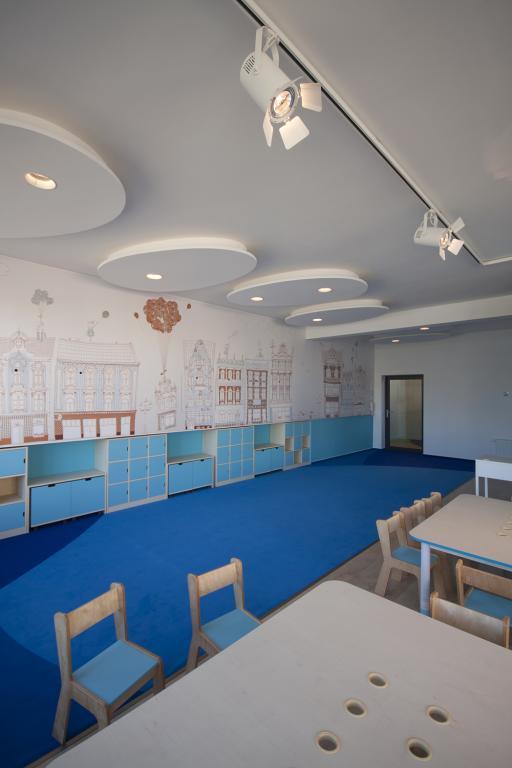Przedszkole powstało w dwukondygnacyjnym budynku w centrum miasta, jego powierzchnia liczy 600 metrów kwadratowych. fot. Materiały prasowe