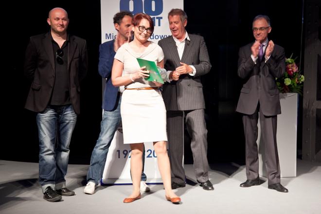Nagrodę dla firmy Marmorin odebrała dyrektor operacyjna Milena Kołodziejczyk. fot. Materiały prasowe