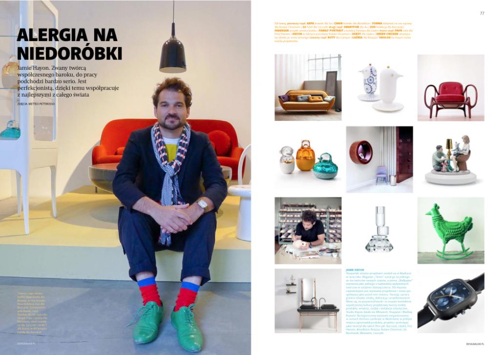 W kwartalniku wywiad ze słynnym hiszpańskim projektantem Jamiem Hayonem. fot. Presso Media+Design