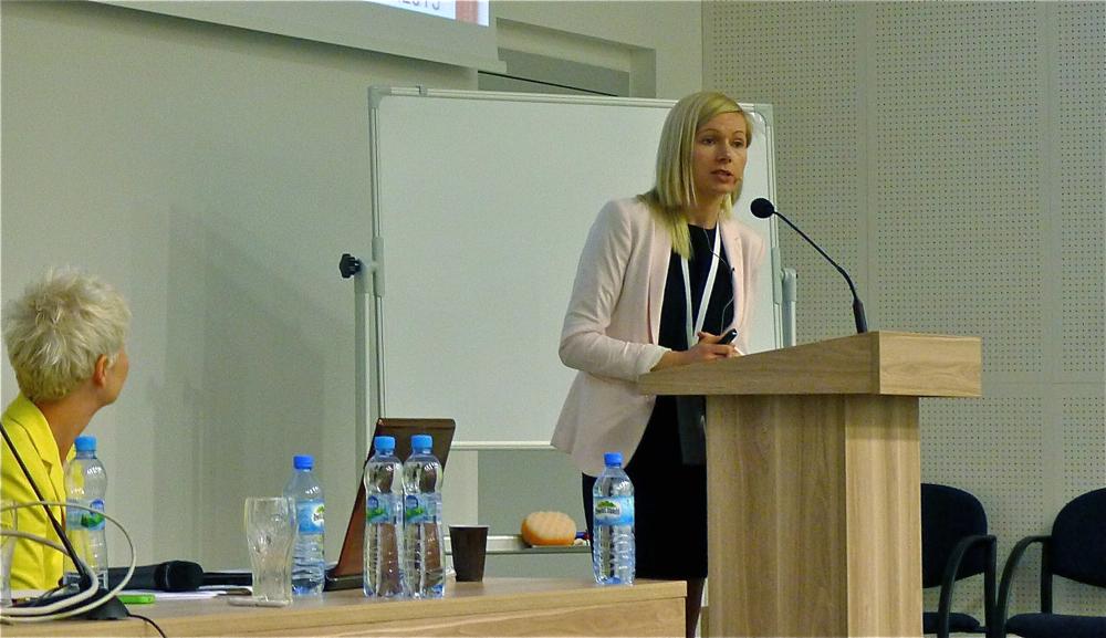Wśród prelegentów konferencji była obecna Anna Vonhausen, dyrektor kreatywna w marce Sitag. fot. Marcin Mońka