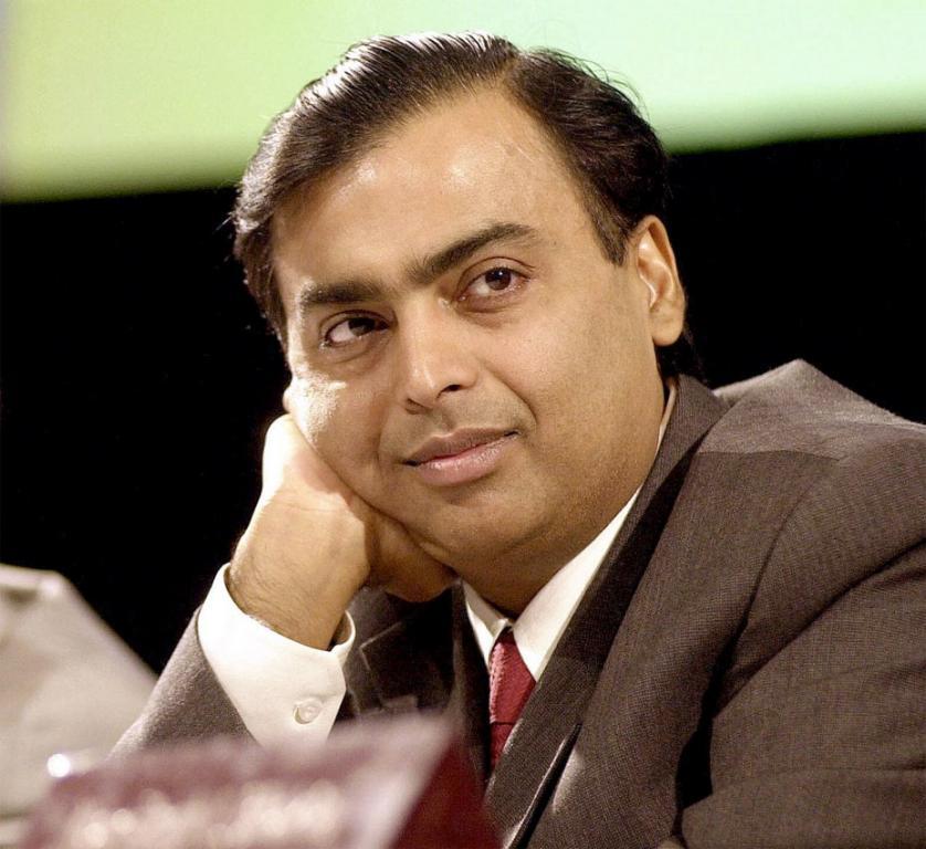 Mukesh Ambani znajduje się w czołówce rankingu