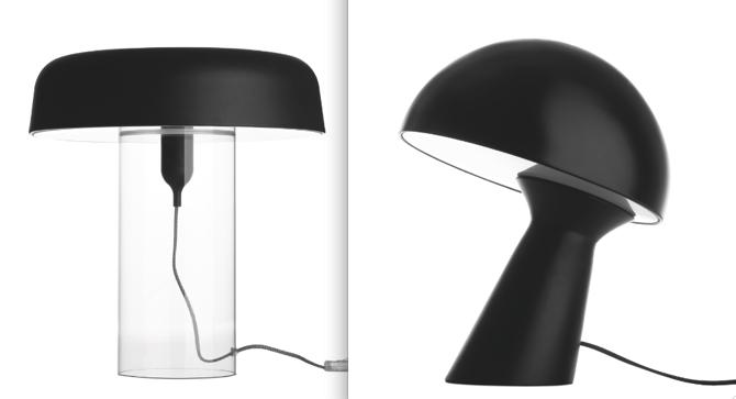 Z lewej lama Goble, cena 2195 zł. Z prawej lampa Lean on me, cena 1695 zł. fot. Materiały prasowe