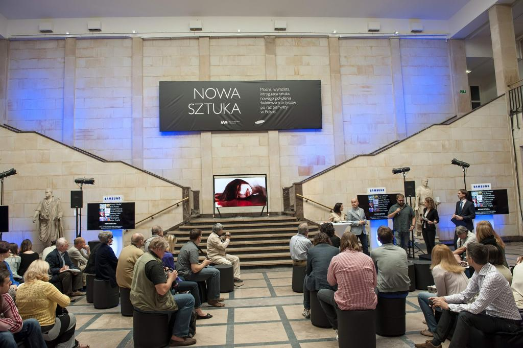 Prezentacja nowego telewizora Ultra HD Samsung S9 o przekątnej ekranu 85 cali i ultrawysokiej rozdzielczości 4K. fot. Materiały prasowe
