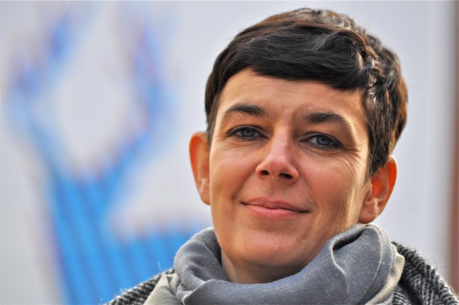 Agnieszka Jacobson-Cielecka, kuratorka wystawy. fot. Wojciech Trzcionka