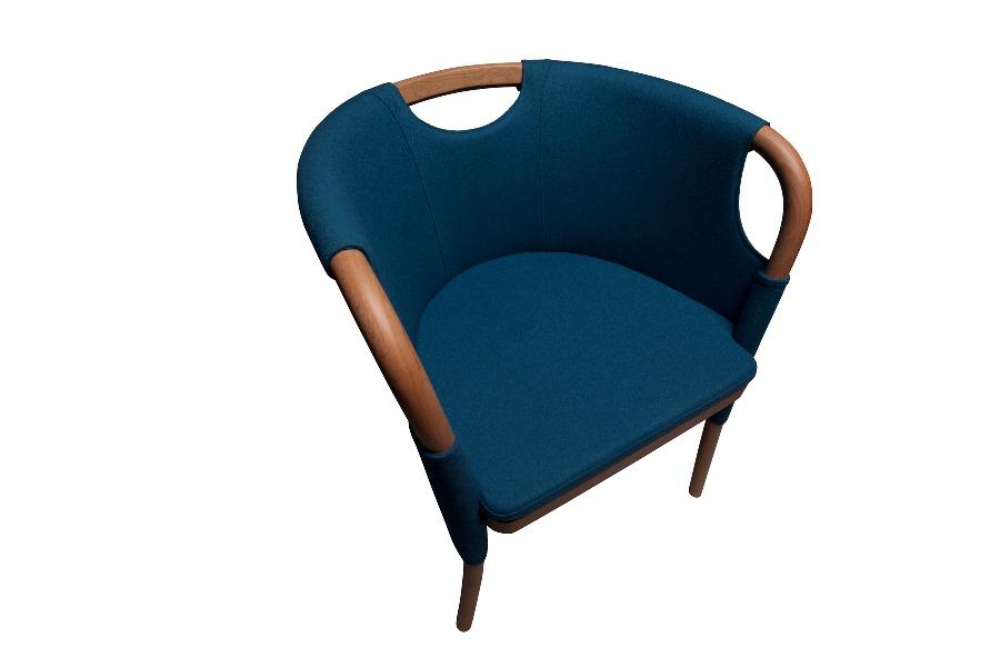 Lady Chair - fotel o miękkiej formie, inspirowanej kształtem kobiecej talii. fot. Materiały prasowe