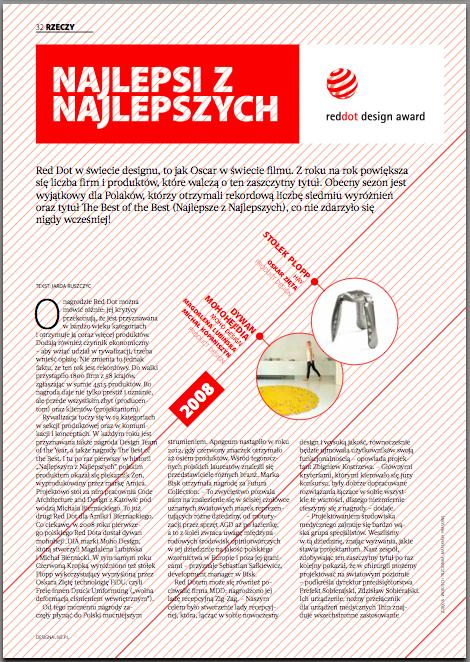 W magazynie piszemy też o wszystkich dotychczasowych polskich laureatach Red Dotów.