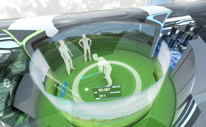 Podczas lotu będzie można np. zagrać wirtualnie w golfa. fot. ARC