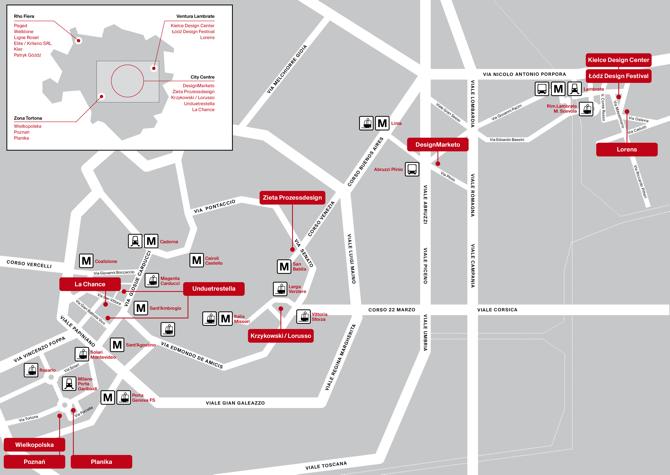 Przewodnik wiedzie nas przez 17 polskich instalacji i inicjatyw projektowych podczas Salone Internazionale del Mobile w Mediolanie (17-22 kwietnia).