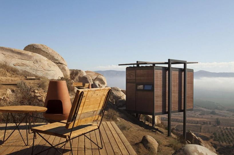 Konstrukcja nośna każdego domku składa się z dwóch stalowych ram. fot. Materiały prasowe