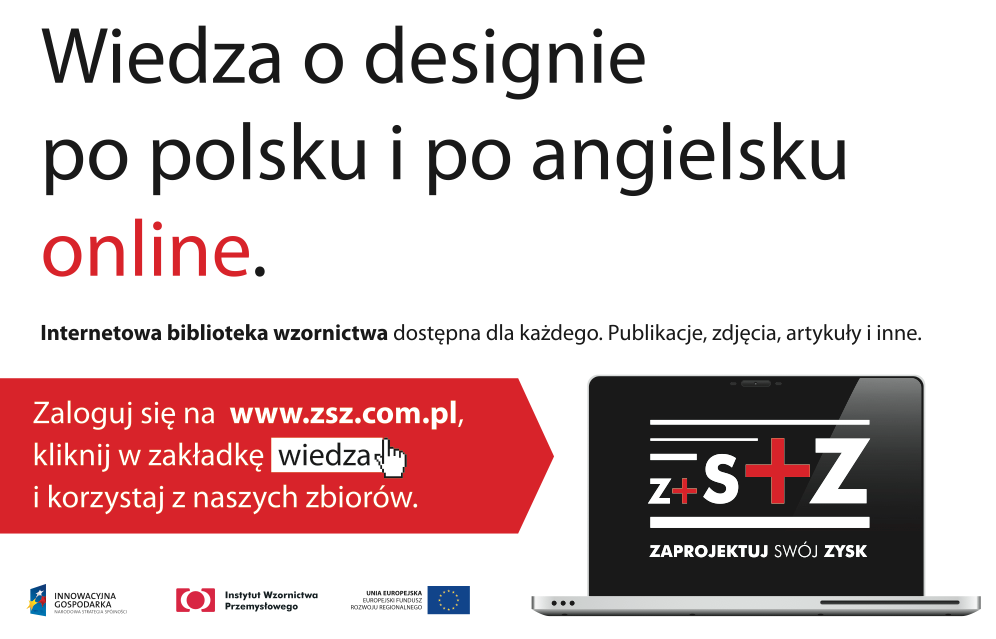 Internetowa Biblioteka Wzornictwa dostępna na zsz.com.pl