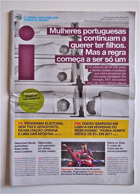 Gdy na portugalskim rynku prasowym ukazał się pierwszy numer dziennika