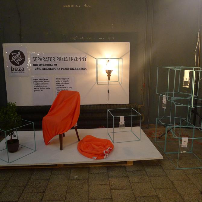 Wśród wyróżnionych prac znalazł się Separator przestrzenny autorstwa grupy Beza Projekt. fot. Materiały prasowe