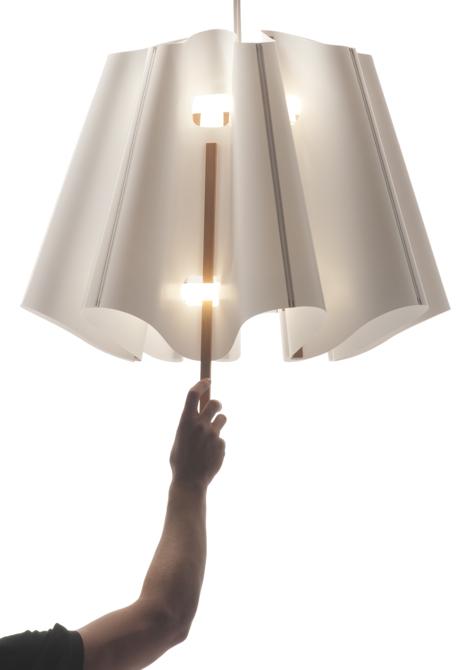 W Tangible Light kontrolujemy ilość światła, jaka wypełni np. nasz pokój. fot. Materiały prasowe