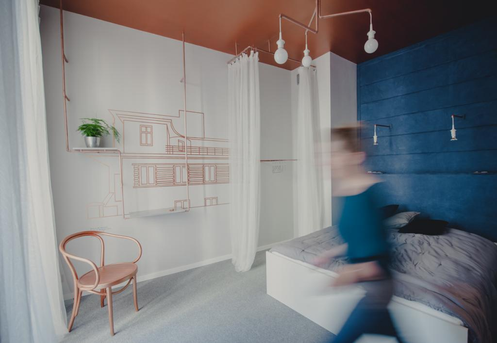 Pokój przygotowany przez Wzorro Design.