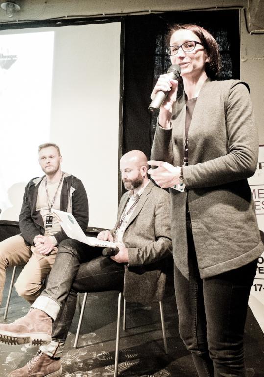 Spotkanie prowadziła Ewa Trzcionka, redaktor naczelna